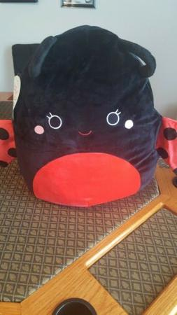 "Kellytoy Squishmallow 16""  Lady Bug Plush Super Soft Pillow"