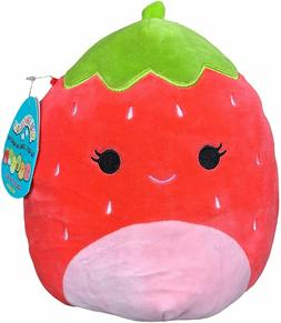"Squishmallow 8"" Scarlet The Strawberry Plush , Super Pillow"