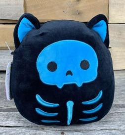 "Kellytoy Squishmallow 8"" Stump Skeleton Cat Halloween 2020 P"