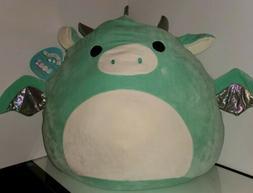 """Squishmallows Drew the Dragon 20"""" Huge NWT plush toy Kellyto"""