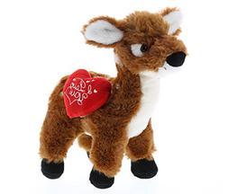 DolliBu Small Standing Deer I Love You Valentines Stuffed An