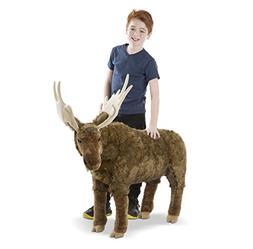 Melissa & Doug Standing Lifelike Plush Giant Moose Stuffed A