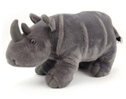 "NEW Fiesta Standing Rhino Rhinoceros Plush Animal Toy 14"" St"
