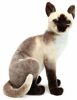 VIAHART Stefan The Siamese Cat | 14 Inch Stuffed Animal Plus