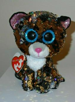"Ty FLIPPABLES ~ STERLING the Leopard 6"" Beanie Boos NEW ~ IN"
