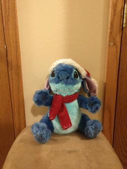 DISNEY Stitch Christmas Hat and  Scarf Plush Stuffed Animal