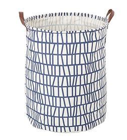 FUNNYGO Large Storage Bin,Ramie Cotton/Canvas Fabric Folding