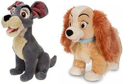 Disney Store Exclusive Lady And The Tramp Plush Set Featurin