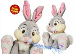 """Disney Store THUMPER PLUSH Medium 14.5"""" BAMBI Bunny Grey Sof"""