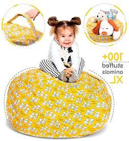 Stuffed Animal Storage Bean Bag - Toy Storage Bag EXTRA LARG
