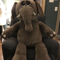 Stuffed Animal 5 Feet Giant Elephant Microfiber Body Plush H
