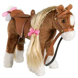 HollyHOME Stuffed Animal Horse Pretty Plush Toy Pretend Play
