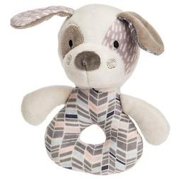 Mary Meyer Stuffed Animal Soft Ring Rattle, Decco Pup