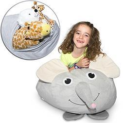 "Jumbo Stuffed Animal Storage Bean Bag - ""Soft 'n Snuggly"