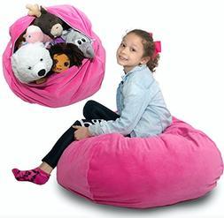 """Large Stuffed Animal Storage Bean Bag ❤️ """"Soft 'n Sn"""
