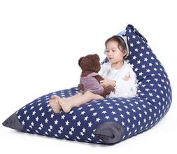 Stuffed Animal Storage Bean Bag Chair for Kids and Adults. P