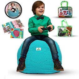 Kroco  LARGE Stuffed Animal Storage Bean Bag Chair Cover –