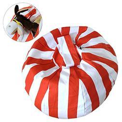 iDili Stuffed Animal Storage Bean Bag Chair Cover Perfect St