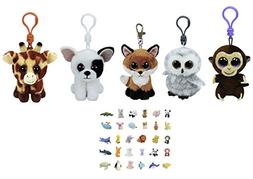 Ty Stuffed Animals Beanie Boos Clips Key Chain Plush Toys Bu