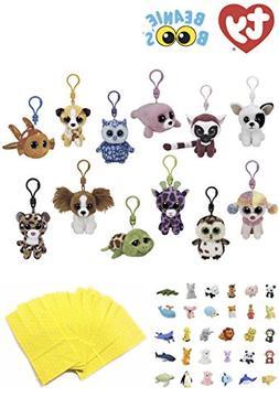 Stuffed Animals Beanie Boos Bundle Set of 12 Clips Keychains