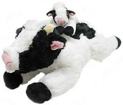 stuffed animals cow and baby calf set