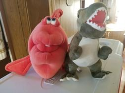 Stuffed animals Dinosaur and fish super cute! Nwot