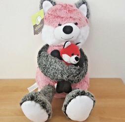 "Animal Adventure Stuffed Animals Fox & Kit 16"" Brand New"