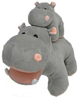 Stuffed Animals - Mother and Baby Hippo - Gifts - Soft Plush