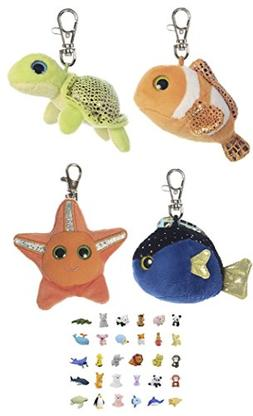 Stuffed Animals Plush Clip Keychains, Puzzle Erasers & Gift