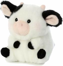 "Stuffed animals super soft  -  The little Cow is cute 5"", Bl"