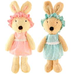 JIARU Stuffed Animals Toys Easter Bunny Rabbits Plush with R