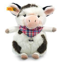 "Steiff Stuffed Cow - Soft And Cuddly Plush Animal Toy - 7"" A"