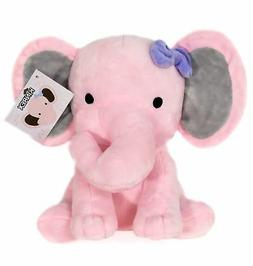KINREX Stuffed Elephant Animal Plush Toy for Baby, Girls, Bo