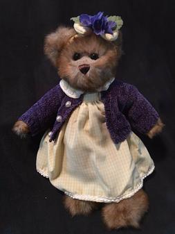 """Stuffed """"Female Teddy Bear"""" - Bearington Collection 13 1/2"""""""