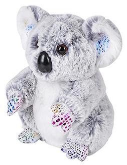 "Wildlife Tree 7"" Stuffed Koala with Rainbow Glitter Zoo Anim"