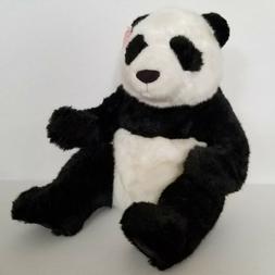 "Gund Stuffed Plush Panda Li Ming Large 16"" Tall Toy Black Wh"