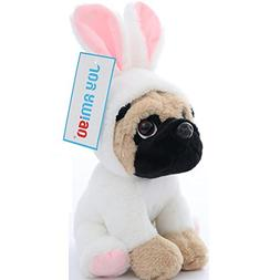 Stuffed Pug Dog Puppy Soft Cuddly Animal Toy in Costumes - S