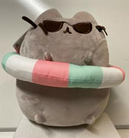 "Gund Stuffed Pusheen Cat 9 1/2"" With Inner Tube , New With T"