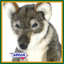HANSA stuffed toy 5468 child wolf 42 SITTING WOLF PUP