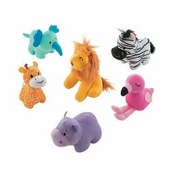 Stuffed Zoo Animals - Toys - 12 Pieces