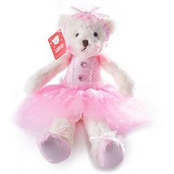 WEWILL Ballerina Teddy Bear Stuffed Animal Cute Soft Toy Plu