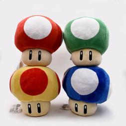 Super Mario Bros Plush 8 Inch / 20cm Blue Mushroom Doll Stuf