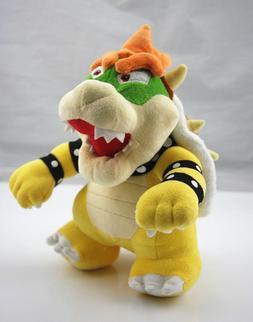 Super Mario Bros Stand Bowser Koopa Plush Doll Stuffed Figur