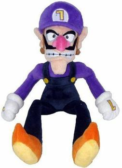 Super Mario Bros Waluigi Plush Doll Figure Soft Stuffed Anim