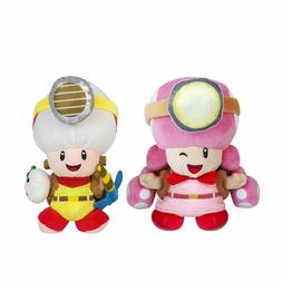 Super Mario Captain Toad and Toadette Plush Doll Stuffed Ani