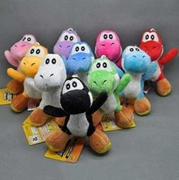 "Super Mario Plush 4.2"" Mini Yoshi 10pcs Set Doll Stuffed Ani"