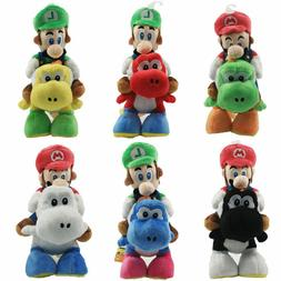 Super Mario Plushie Luigi Riding on Yoshi Plush Doll Little