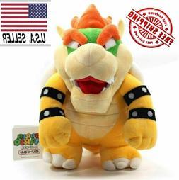 Super Mario Bros King Bowser Koopa Plush Toy Stuffed Animal