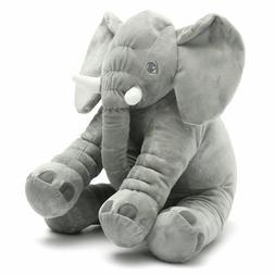 """Super Soft Cuddling Stuffed Grey Floppy Elephant Toy 24"""""""