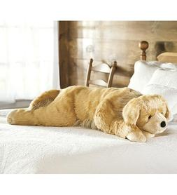 Super Soft Golden Retriever Body Pillow with Realistic Featu